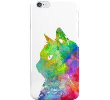 Colourful Watercolour Cat iPhone Case/Skin