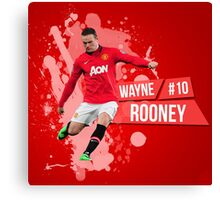 Rooney  Manchester United Ball Canvas Print