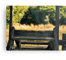 Steps Over The Fence Metal Print