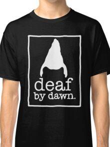 DEAF BY DAWN White Logotype Classic T-Shirt