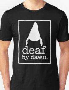 DEAF BY DAWN White Logotype Unisex T-Shirt