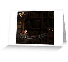 Donkey Kong Country - Mine Cart Carnage Greeting Card