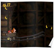 Donkey Kong Country - Mine Cart Carnage Poster