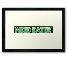 Weed Eater Parody Logo 420 Framed Print