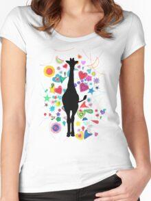 Giraffe world Women's Fitted Scoop T-Shirt