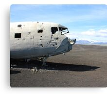 US Navy DC-3 wreckage Canvas Print