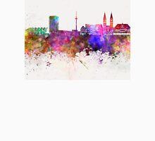 Bremen skyline in watercolor background Unisex T-Shirt