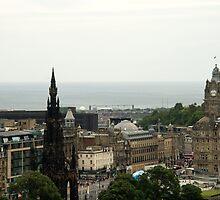 Edinburgh Skyline 001 by ValeriesGallery
