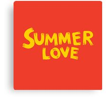 Summer love lettering expression Canvas Print