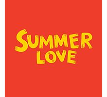 Summer love lettering expression Photographic Print