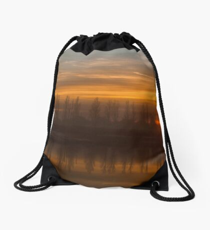 Sunset Crouch Estuary Drawstring Bag