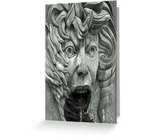 Fire Face Fountain © Greeting Card