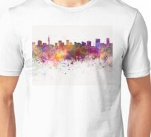 Pretoria skyline in watercolor background Unisex T-Shirt