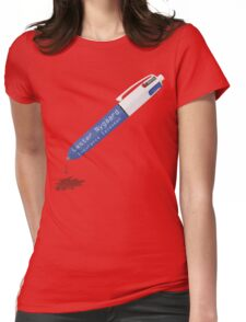 Fargo Pen of Lester Nygaard Dripping Red Ink Womens Fitted T-Shirt