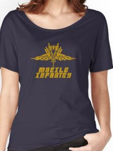 Starship Troopers Mobile Infantry crest grunge Women's Relaxed Fit T-Shirt