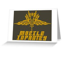 Starship Troopers Mobile Infantry crest grunge Greeting Card