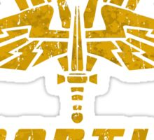 Starship Troopers Mobile Infantry crest grunge Sticker