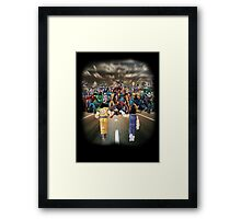 Saiyans vs Marvel's Heroes Framed Print
