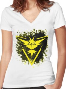 Yellow Team Women's Fitted V-Neck T-Shirt
