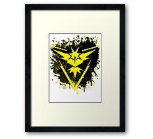 Yellow Team Framed Print