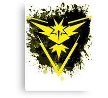 Yellow Team Canvas Print