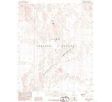 USGS TOPO Map Arizona AZ Red Hill 313051 1986 24000 Photographic Print