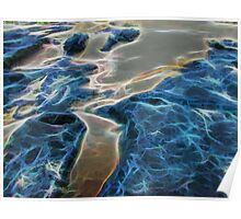 Abstract coralline algae in rock pool Poster