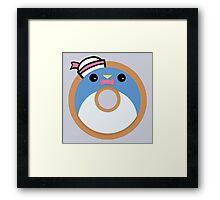 Tuxedo Sam Donut Framed Print