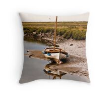 Wait For The Tide - British Coast And Beach  Throw Pillow