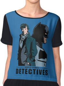 World's Finest Detectives Chiffon Top