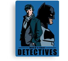 World's Finest Detectives Canvas Print