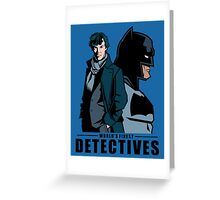 World's Finest Detectives Greeting Card