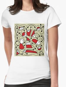 Playful abstract art Womens Fitted T-Shirt