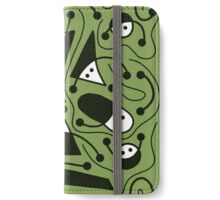 Playful abstract art - green iPhone Wallet/Case/Skin