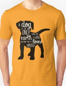 A dog's love - Lettering Unisex T-Shirt