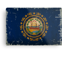 New Hampshire State Flag VINTAGE Metal Print