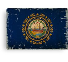 New Hampshire State Flag VINTAGE Canvas Print