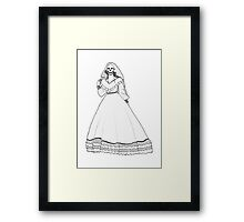 Here Comes the Corpse Bride Framed Print