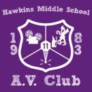 Hawkins Middle School AV Club - White by Smidge the Crab