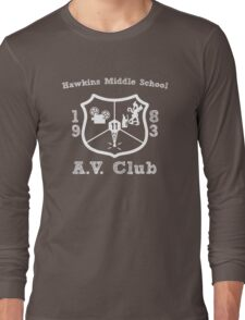 Hawkins Middle School AV Club - White Long Sleeve T-Shirt
