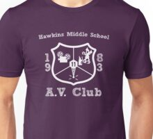 Hawkins Middle School AV Club - White Unisex T-Shirt