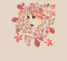 Autumn Girl with Floral 2 Unisex T-Shirt