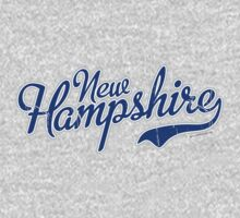 New Hampshire Script VINTAGE Blue by USAswagg2