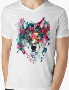Wolf II Mens V-Neck T-Shirt
