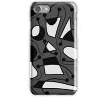 Playful abstract art - gray iPhone Case/Skin