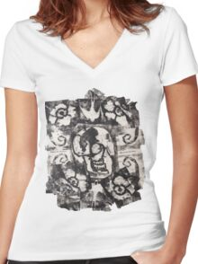Square Skulls 'N' Roses (extra options) Women's Fitted V-Neck T-Shirt