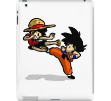 son goku vs luffy iPad Case/Skin