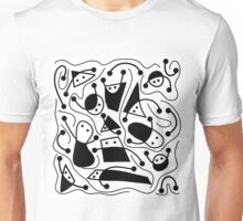 Playful abstract art - black and white Unisex T-Shirt