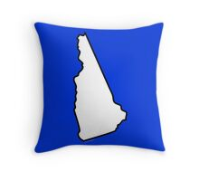 New Hampshire State Outline Throw Pillow