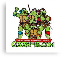 G33k-e.com - TMNT Parody Canvas Print